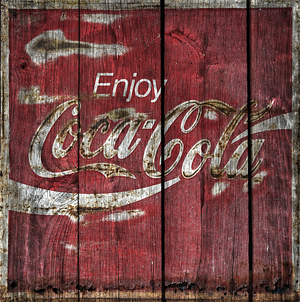 John Stephens -  Coca Cola Sign Barn Wood