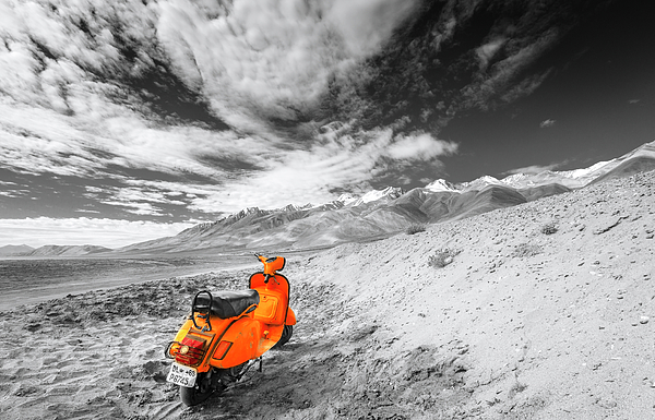 Alexey Stiop - Abandoned scooter in Himalayas