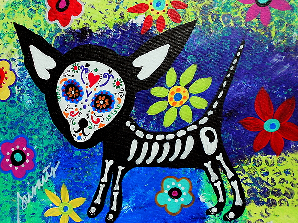 Chihuahua Day Of The Dead Hand Towel For Sale By Pristine Cartera Turkus