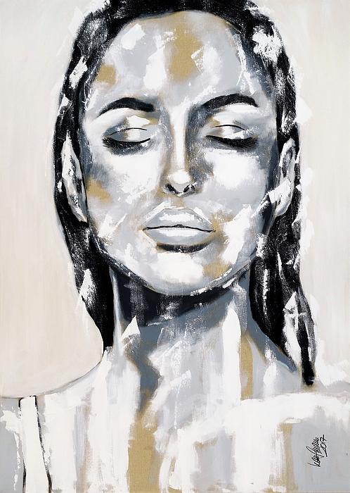 Anita Kaufmann - Portrait XXL black and white