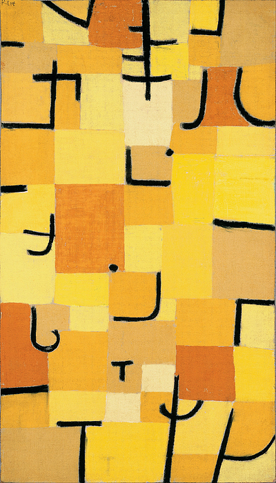 Signs In Yellow Greeting Card For Sale By Paul Klee