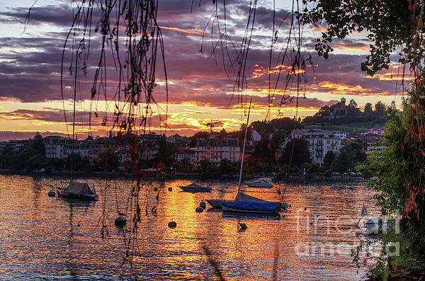 Michelle Meenawong - sunset at Montreux