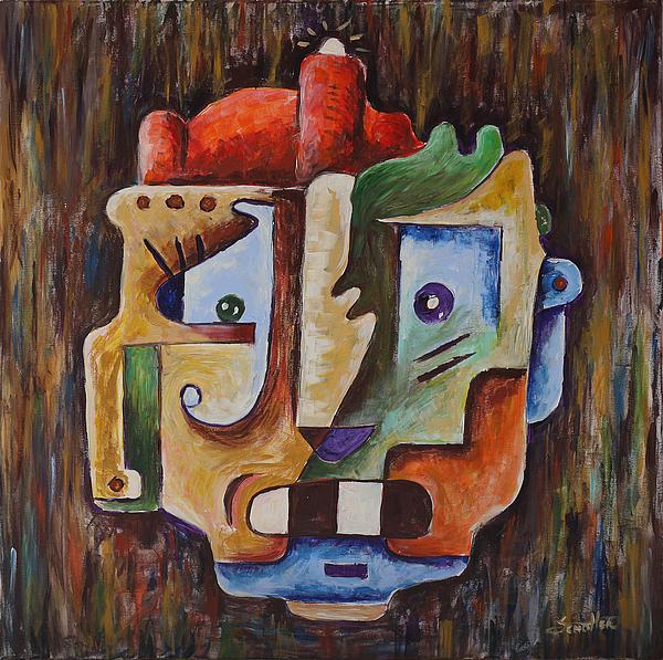 Surrealism Head Painting