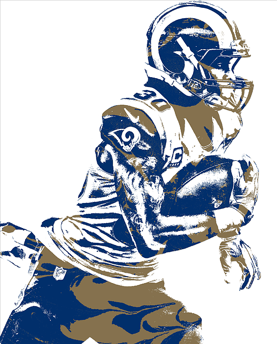 bc0823a0 Todd Gurley Los Angeles Rams Pixel Art 24 Greeting Card