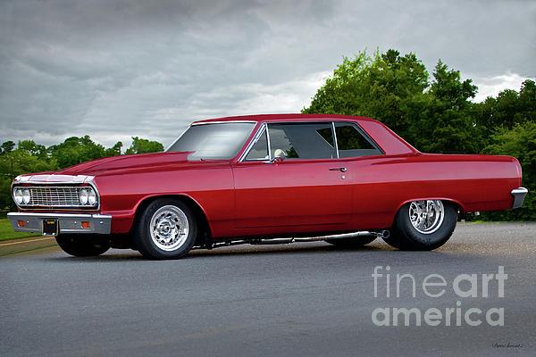 1964 Chevelle Malibu 'pro Street' Duvet Cover