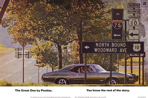 Digital Repro Depot - 1968 Pontiac GTO - Woodward - The Great One by Pontiac