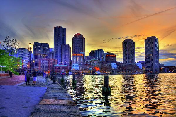 Joann Vitali - Boston Skyline Sunset