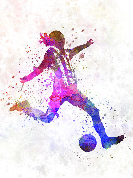 Pablo Romero - Girl playing soccer football player silhouette