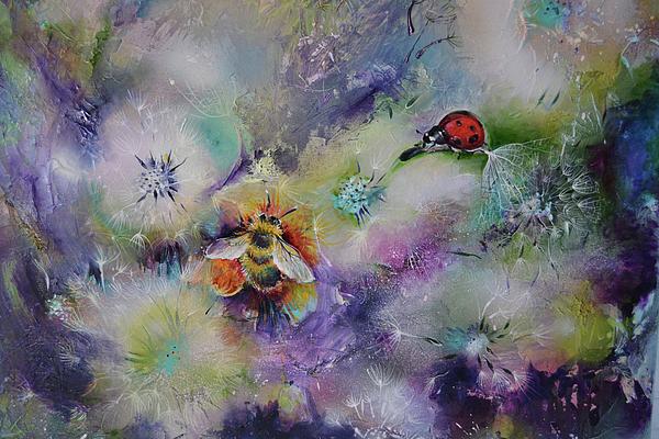 Soos Roxana Gabriela - Rendezvous, Ladybug and Bumble-bee on Dandelions