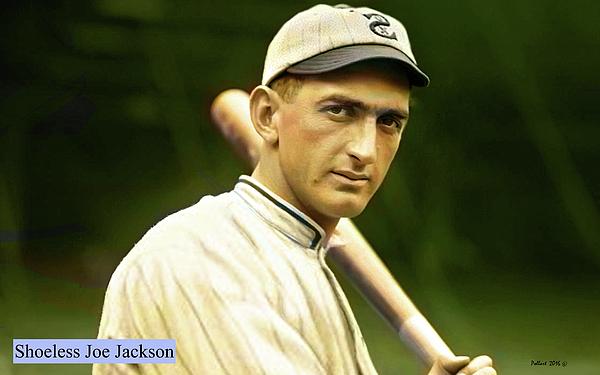 Shoeless Joe Jackson White Sox Greeting Card