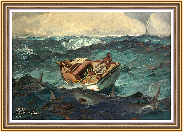 Gert J Rheeders - The Gulf Stream - After And Inspired By An Original Painting Done in 1899 By Winslow Homer. L A S