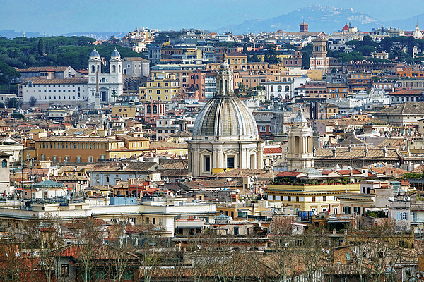 Richard Rosenshein - View Of Rome Italy From Atop Gianicolo Hill