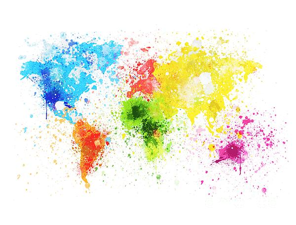 World Map Painting Painting