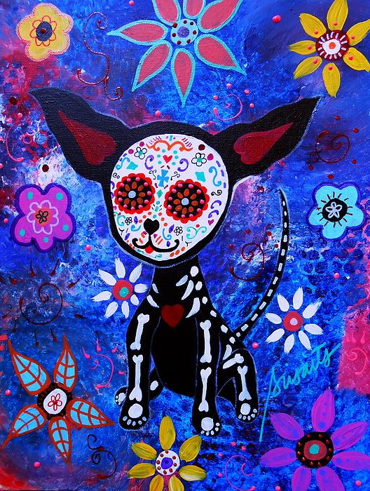 Pristine Cartera Turkus - Chihuahua Day Of The Dead