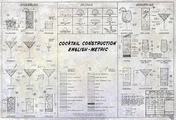 The cocktail construction blueprint iphone x case for sale by jon boundary bleed area may not be visible malvernweather Gallery