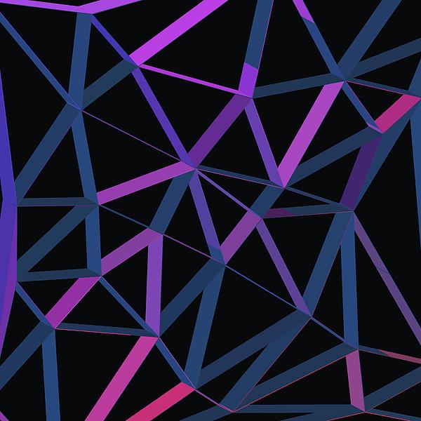 3d Futuristic Geo Lines II Digital Art
