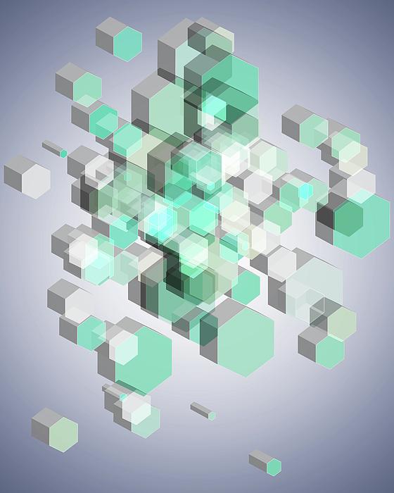 3d Hexagon Background Digital Art
