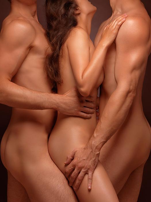 Naked men on naked women