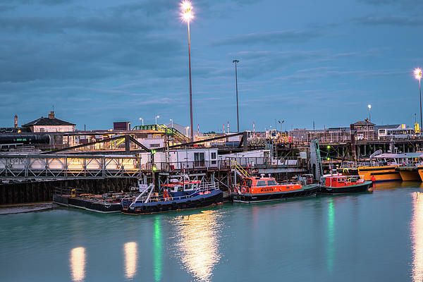 Marius Comanescu - Newhaven -England.  Newhaven harbour at sunset, S