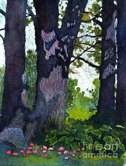 Conni Schaftenaar - A View Through the Trees Watercolor Batik