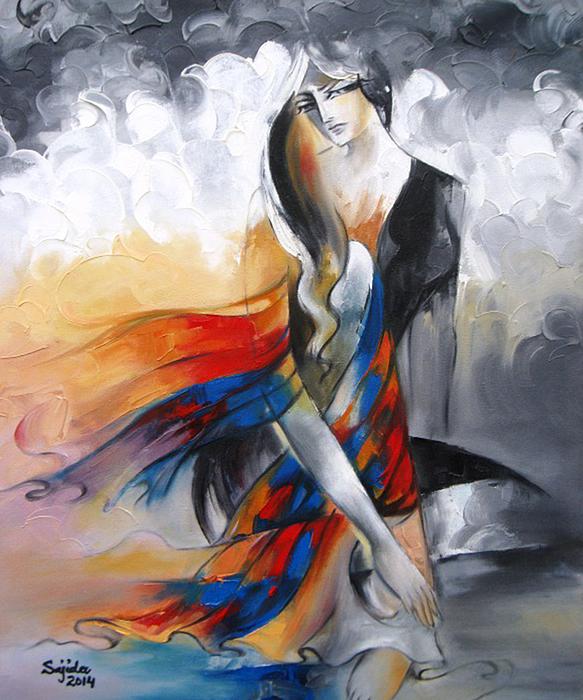 Sajida Hussain - Abstract art Figurative
