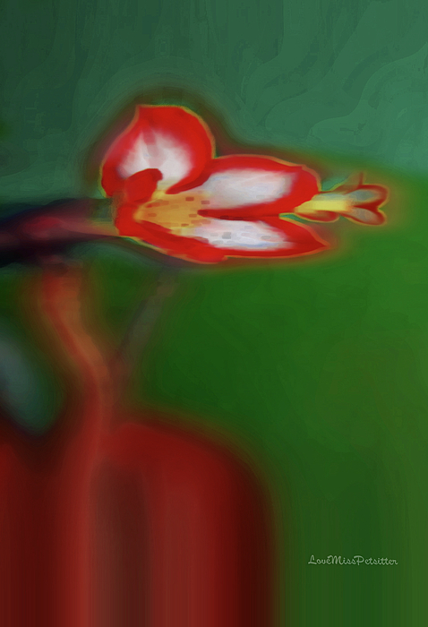 Miss Pet Sitter - Abstract Floral Art 45
