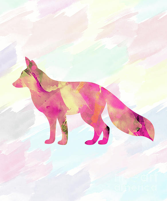Abstract Fox Digital Art