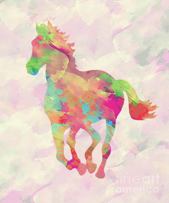 Abstract Horse Digital Art