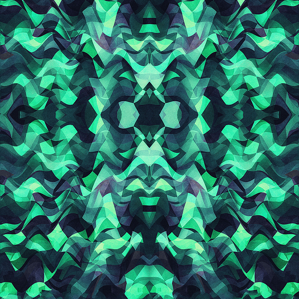 Abstract Surreal Chaos Theory In Modern Poison Turquoise Green Digital Art