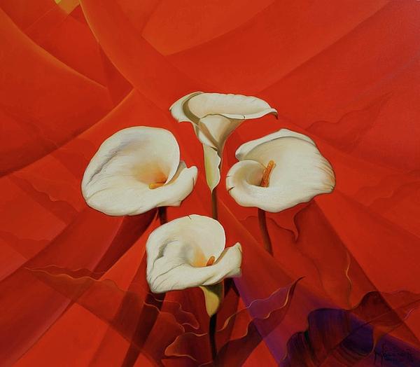Jose Moreno - Abstracto con alcatraces