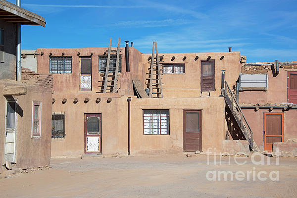 Acoma Pueblo Historic Adobe Homes At Sky City In New Mexico, Usa Carry-all  Pouch
