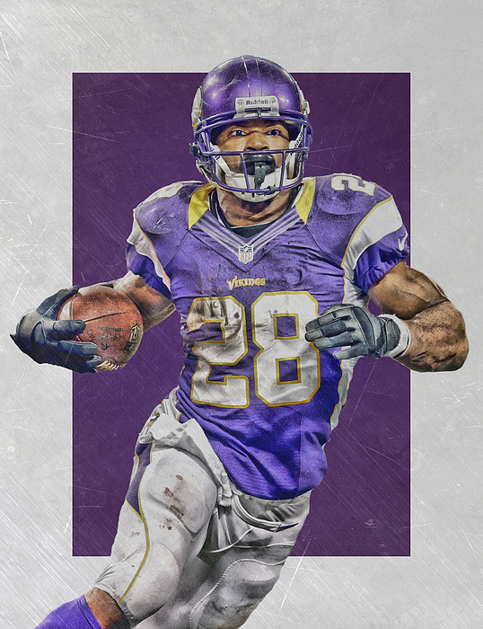322b9ae4a ... Adrian Peterson Minnesota Vikings Art 4 by Joe. Boundary  Bleed area  may not be visible.