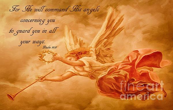 Angels On Guard Bath Towel