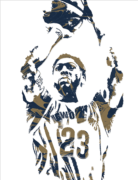 Anthony Davis New Orleans Pelicans Pixel Art 7 Carry All Pouch
