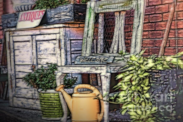 Mary Lou Chmura - Antiques On The Front Porch