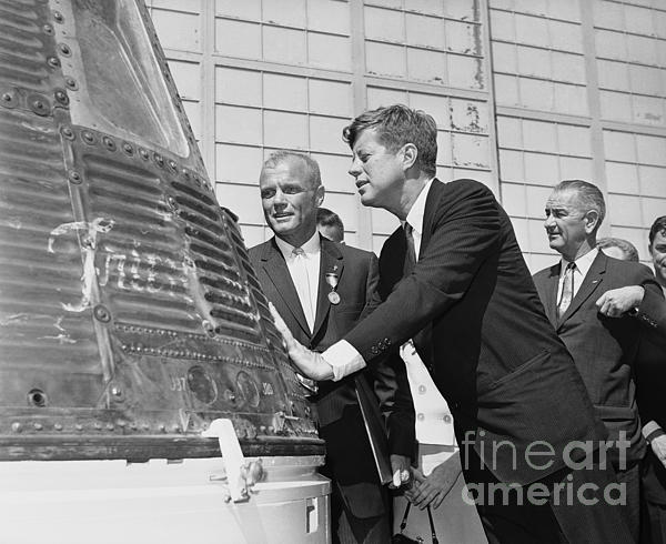 The Titanic Project - Astronaut John Glenn, President John Kennedy and Vice-President Lyndon Johnson