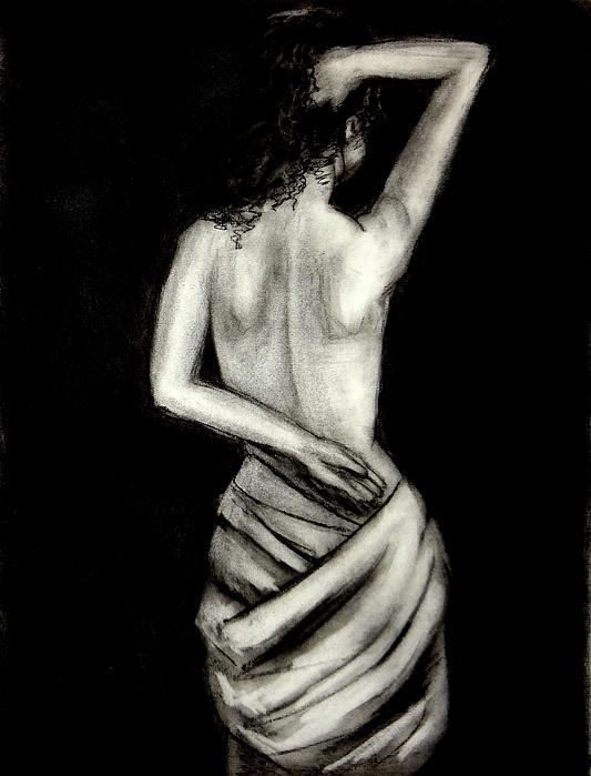 Katy Hawk - Athena Nude Woman Drawing
