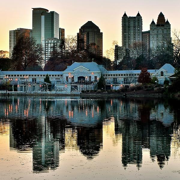 Frozen in Time Fine Art Photography - Atlanta over Piedmont Park