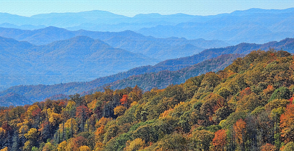 HH Photography of Florida - Autumn In The Smokies by H H Photography of Florida
