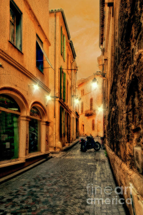 Kay Brewer - Avignon Alley at Sunset