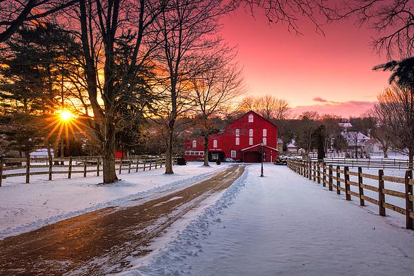 Emmanuel Panagiotakis - Barn at Sunset