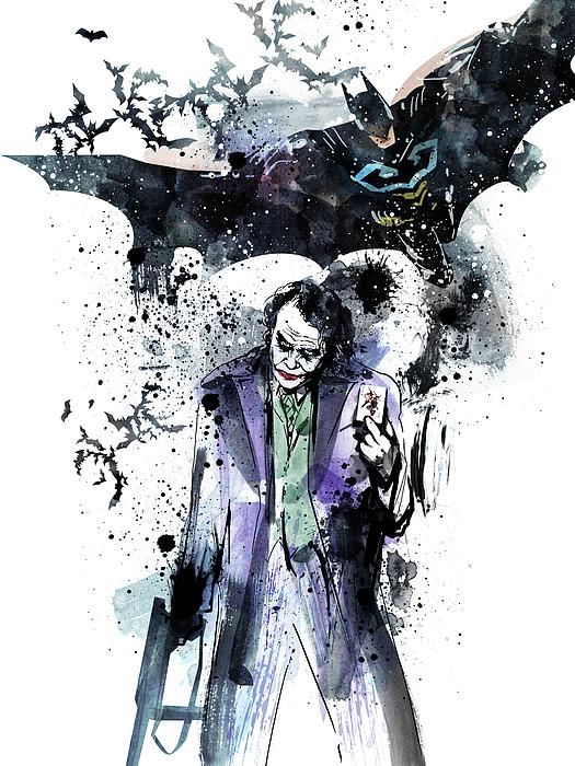 Halloween Joker Card.Batman And Joker Greeting Card