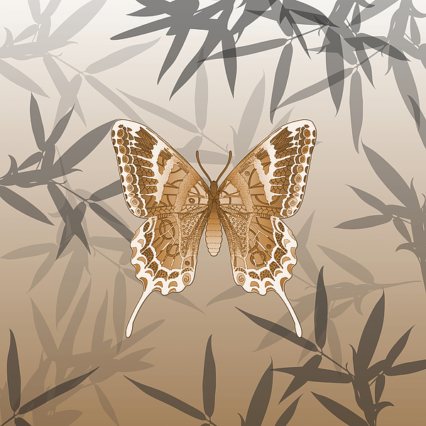 Brigitte Carre - Beautiful Copper Butterfly Design