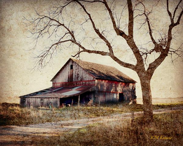 Kathy M Krause - Beautiful Red Barn-Near Ogden