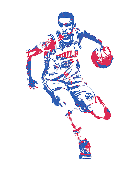 10106e75d05 Ben Simmons IPhone X Case featuring the mixed media Ben Simmons  Philadelphia 76ers Pixel Art 20. Boundary: Bleed area may not be visible.