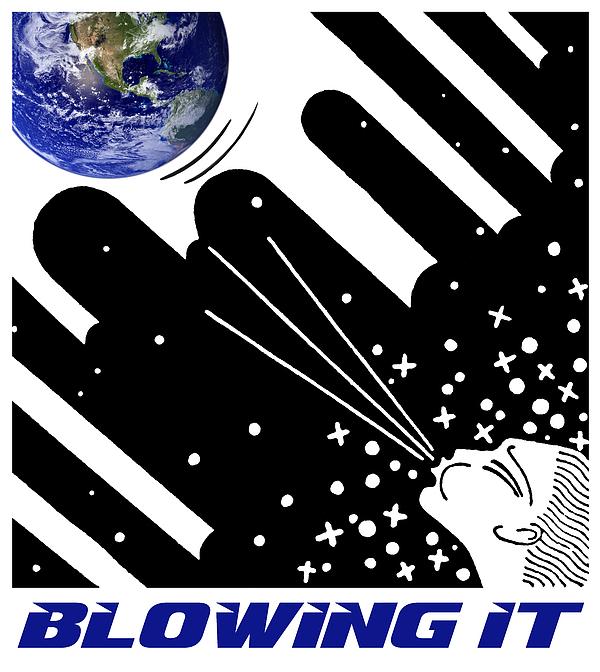 Rayanda Arts - Blowing It - Earth Day Poster