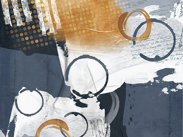 Anthea Day - Blue and Gold Abstract