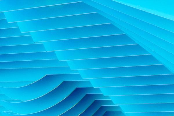 Denise Clark - Blue Geometric Abstract 2