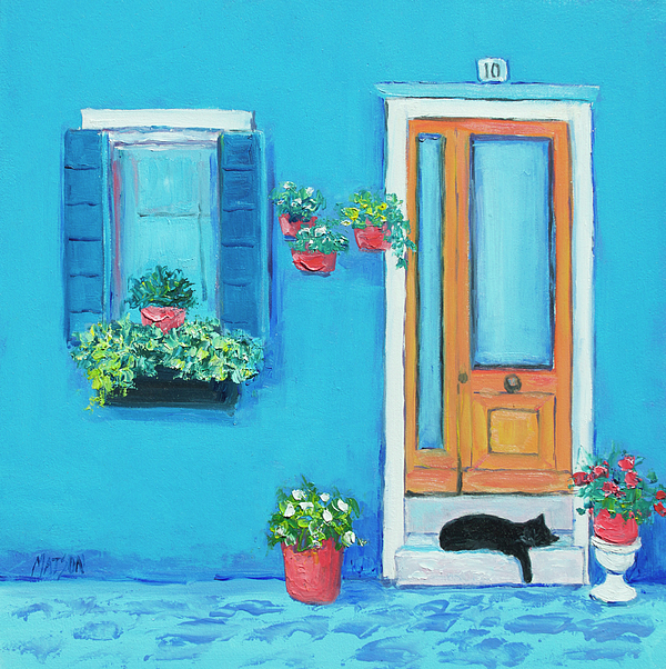 Jan Matson - Blue House in Burano Venice