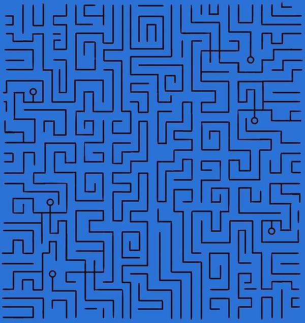 Blue Maze Photograph